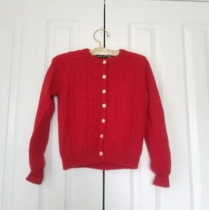 Gap Red Wool Woman Button Down Cardigan/Sweater